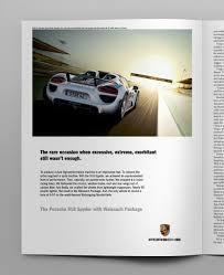 porsche ads porsche 918 spyder launch u2014 justin lake