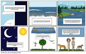 1st story of creation storyboard by juliasg