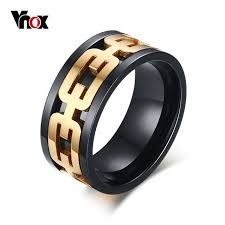 aliexpress buy vnox 2016 new wedding rings for women aliexpress buy vnox black rings for men jewelry stainless