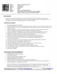 Resume Samples Warehouse by Sample Resume For Licensed Practical Nurse Sample Resume 2017 Lvn