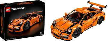 lego technic porsche 911 gt3 rs lego 42056 porsche 911 gt3 rs exklusiv modell lego technic