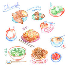 thanksgiving in korea chuseok food diary evydraws