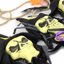 aliexpress com buy sunbeauty black fabric skull garland