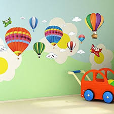 Removable Nursery Wall Decals Amaonm Removable Creative 3d Air Balloon Aircraft