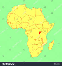 Map Of Rwanda Rwanda Vector Map Isolated On Africa Stock Vector 301972931
