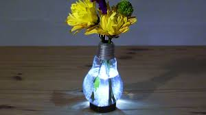 how to make a light bulb vase youtube