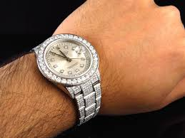 diamond rolex rolex datejust oyster full iced with silver diamond dial diamond