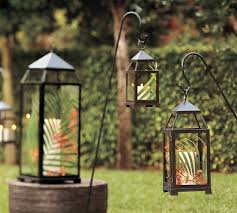 bougie jardin lanterne de jardin décorer jardin avec de la lumière douce