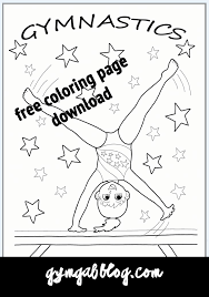 gymnastics coloring page 61 best on the blog images on pinterest gymnastics equipment