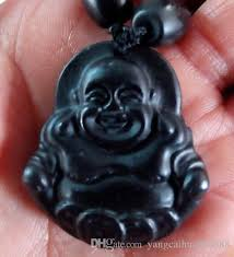 black jade necklace images Wholesale natural light black jade buddha pendant jadeite grade a jpg
