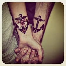 26 best couple anchor tattoos images on pinterest anchors arm