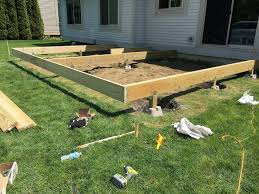How To Build A Backyard Patio by How To Build A Floating Deck Rogue Engineer