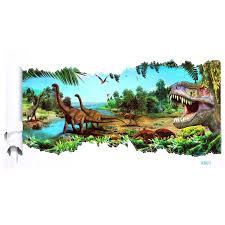 Dinosaur Home Decor by 3d Jurassic World Park Dinosaur Wall Sticker Kids Room Decal Mural