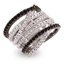 jewelry designs rings images Designer style black and white cz highway ring jpg