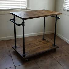 industrial iron wood kitchen trolley natural black buy kitchen 239 best hand forged iron tables images on pinterest wrought iron