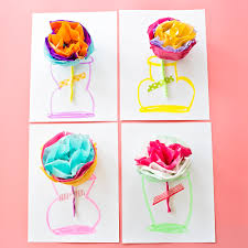 how to make tissue paper flower cards u2013 scrap booking