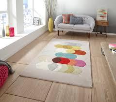 Modern Designer Rugs by Designer Wool Blend Rug Inaluxe Bold Multi Coloured Large Modern