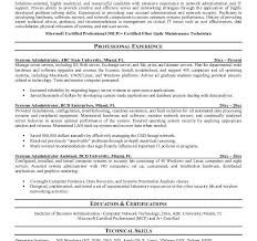 System Administrator Resume Template Obiee Sample Resume Resume Cover Page Excel Gamestop Resume