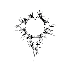tribal mandelbrot tattoo stencil by davidian