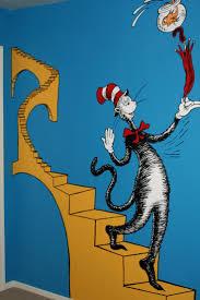 507 best art wall murals images on pinterest kids rooms wall dr seuss nursery dr seuss nursery mural cat 8