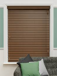 Wide Slat Venetian Blinds With Tapes American Walnut Wooden Blind 64mm Slat Venetian Window And