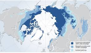 Northern Hemisphere Map Permafrost Extent In The Northern Hemisphere Grid Arendal