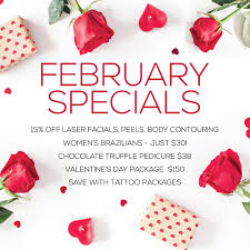 valentines specials s day gifts february 2018 specials pinewood laser spa