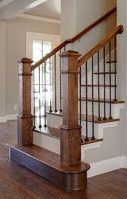 metal banister ideas bannister custom homes metal balusters stained banister