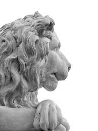 marble lion marble lion isolated stock image image 6786701