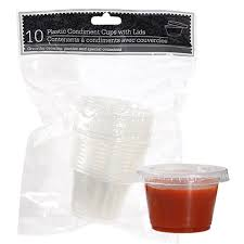 clear plastic cups for wedding bulk clear plastic condiment cups with lids 10 ct packs at