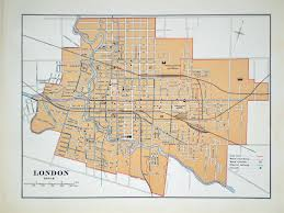 Map Of Ontario Once Upon A Tram The London Street Railway Company U0027s 60 Year Run