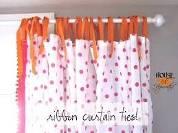 White With Pink Polka Dot Curtains Polkadot Pom Pom Curtains Tutorial