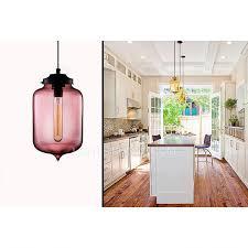 Colored Glass Pendant Lights Turret Shaped E26 E27 Colored Glass Pendant Lights