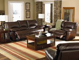 coaster clifford brown leather double reclining sofa coaster