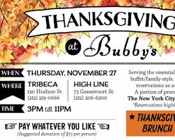 bubby s restaurant to host pay what you want thanksgiving