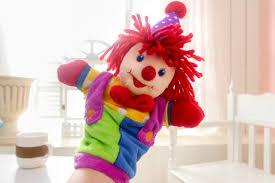 circus puppets aeruiy soft plush circus clown puppet stuffed