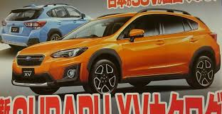 orange subaru impreza 2018 subaru xv leaked online before geneva reveal performancedrive