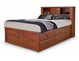 Bookcase Bed Queen Simplicity Queen Captain U0027s Bed W Bookcase Headboard And Low