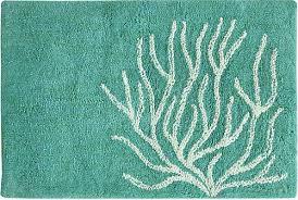 aqua coral bath rug beach bliss designs