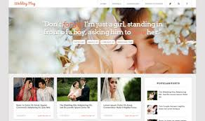 Wedding Magazine Template Wedding Mag Responsive Blogger Template Templateism