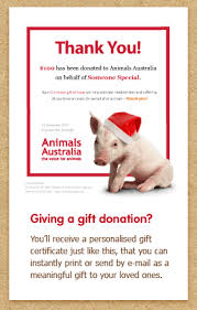 give a christmas charity gift animals australia