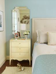 White Cream Bedroom Furniture by Mirrored Bedroom Furniture Spaces Contemporary With Blue And Cream
