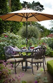 Metal Garden Furniture Hartman Amalfi 4 Seat Round Set In Bronze Hayes Garden World