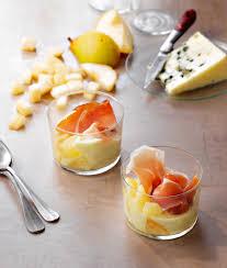 cuisine verrine verrines poire roquefort et jambon cru hachette pratique