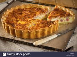 lorraine cuisine quiche lorraine egg and bacon tart food stock