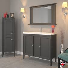 Bathroom Vanity Units Online England 1000 Solid Grey Oak 2 Door Bathroom Vanity Unit And Basin