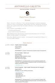 Project Manager Resume Examples by Digital Project Manager Resume Samples Visualcv Resume Samples