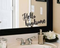 mirror decals home decor mirror decal etsy
