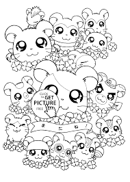 hamtaro coloring pages for kids printable free