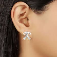 daily wear diamond earrings advait women s daily wear diamond studded earring jewelschoice